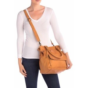 Day & Mood Hannah Leather Large Satchel